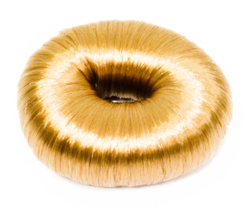 Womens Natural Look Imitation Round Hair Bun Size Approx. 5x2x25cm in Gold