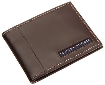 Tommy Hilfiger 男士牛皮真皮钱包  超薄经典