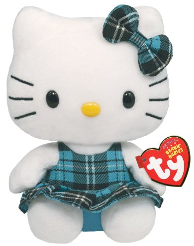 Ty Beanie Baby Hello Kitty – Aqua Plaid