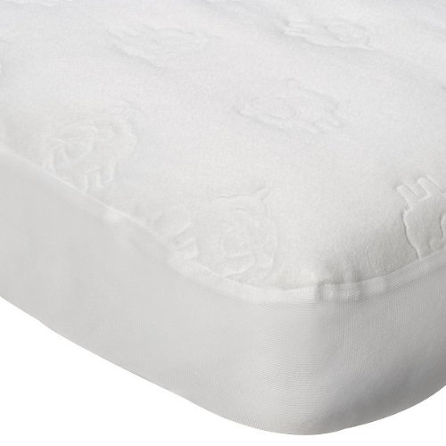 Circo® Fitted Waterproof Fitted Crib Pad- White