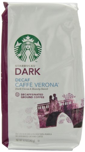 Starbucks Decaf Caffe Verona Coffee (Bold), Ground, 12-Ounce Bags (Pack of 3)