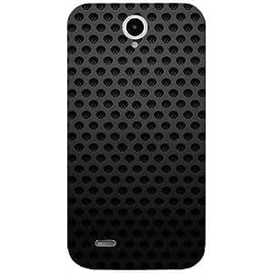 Casotec Black Pattern Design Hard Back Case Cover for Lenovo A850