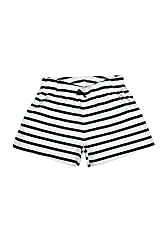 Poppers by Pantaloons Girl's Cotton Shorts (205000005662112, White, 7-8 Years)