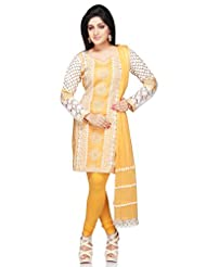Utsav Fashion Women's Yellow Cotton Readymade Kameez With Legging-X-Small