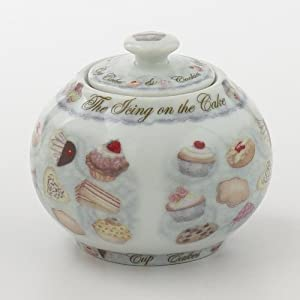 Cupcakes and Cookies Covered Sugar Bowl 12oz By Cardew Design by CDNA