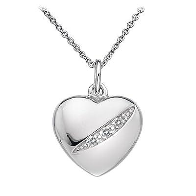 Hot Diamonds Shooting Stars Heart Pendant of 46cm