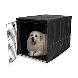 Midwest Black Polyester Crate Cover for 48 Inch Wire Crates, 48 Inches by 30 Inches by 33 Inches
