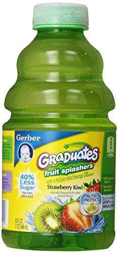 Gerber Graduates Fruit Splashers Juice, Strawberry Kiwi, 32-Ounce Bottles (Pack Of 6) front-59503
