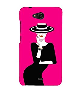 Pink Fantacy Girl Cute Fashion 3D Hard Polycarbonate Designer Back Case Cover for Micromax Canvas Play Q355