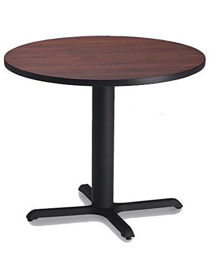 Bistro Tables: Dining Height Models (Round Table) Regal Mahogany TF/Black/Black Mayline Mahogany Assembly
