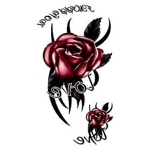 Amazon.com : 5 roses waterproof tattoo (17.5 cm * 10CM) : Tattooing