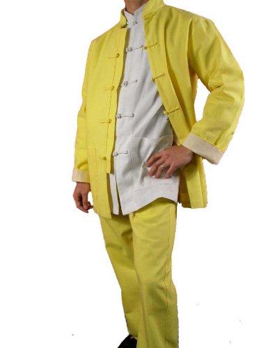 100-Baumwolle-Golden-Kung-Fu-Kampfkunst-Tai-Chi-Uniform-Anzug-XS-XL-oder-Von-Ma223schneider