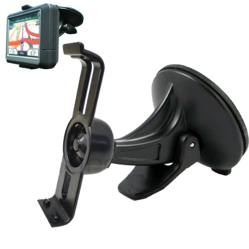 ChargerCity Exclusive Garmin Nuvi Windshield Suction Cup Mount and Bracket Cradle unit kit with ChargerCity direct warranty (Compare to 010-11305-00)