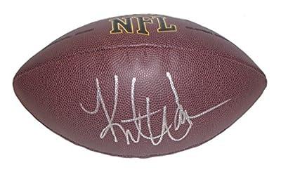 Kurt Warner Autographed / Signed NFL Wilson Football w/ Proof Photo, St Louis Rams, Arizona Cardinals, NY Giants, COA