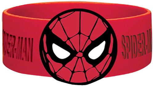 Marvel comic Retro Spiderman Mask Rubber Wristband - 1