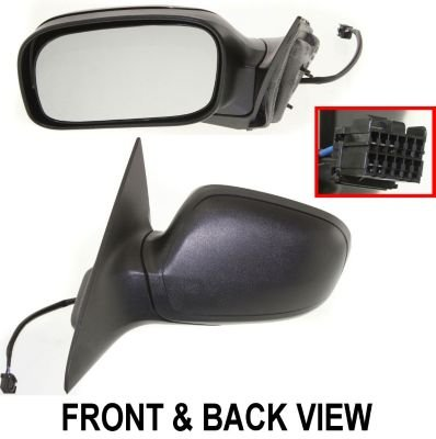 Kool Vue Ch40El Mirror Corner Mount Type Driver Side Lh Plastic Primered Power With Cap(S) Manual Folding Heated