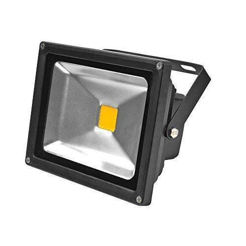 8 X LianLe 20W IP65 étanche LED Projecteur, Energy Saving Lampe LED, Intérieur / Extérieur, Blanc Chaud (2800-3200K)
