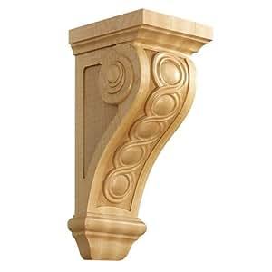 Brown Wood Inc. 01601535PT1 Bijou Decorative Wood Corbel, Paint Grade