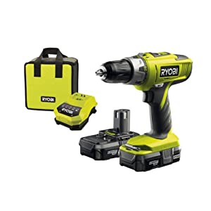 Ryobi LLCDI18022 ONE+ 18V Cordless Combi  Drill with 2 x 1.3Ah Batteries and 45 Minute Charger