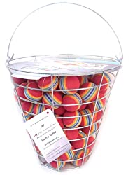 A99 Golf Rainbow Foam Ball Practice 50 Pcs with Bucket