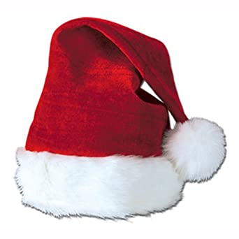 Santa Hat with Plush Trim