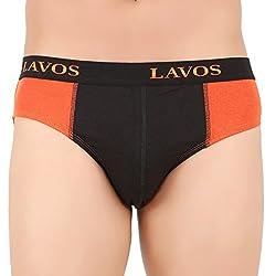 Lavos Mens Brief-LA-2004 RUST ORANGE BLACK (X-Large)