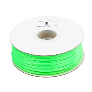 SainSmart 1.75mm imported PLA Filament 1kg/2.2lb Fluorescein Green for 3D Printers Reprap, MakerBot Replicator 2, Afinia, Solidoodle 2, Printrbot LC, MakerGear M2 and UP!(Afinia H-Series)