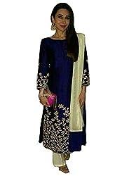 blue Benglori Dress materials (H101_blue_Free size)