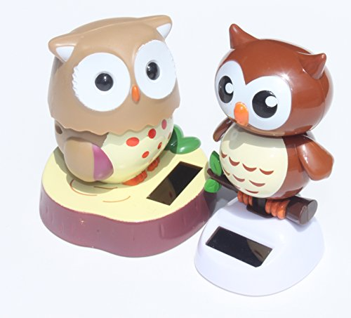 Solar Toy - Adorable Owl and it's baby Owl