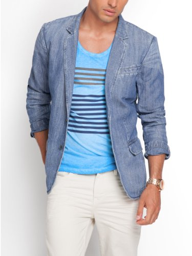 GUESS Denim Blazer in Magma Wash