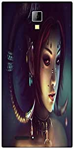 Snoogg Tribal chic Designer Protective Back Case Cover For Micromax Canvas Express A99