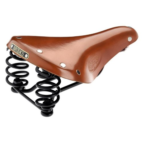 Brooks Flyer S Damen Fahrrad Leder Sattel, Farbe honig
