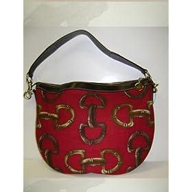 Gucci 153032 Red Brown Horsebit Handbags