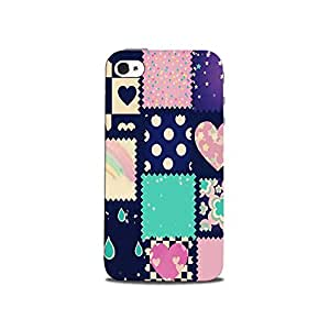 Mikzy Multicolour Pattern Printed Designer Back Cover Case for Iphone 4/4S (MultiColour)