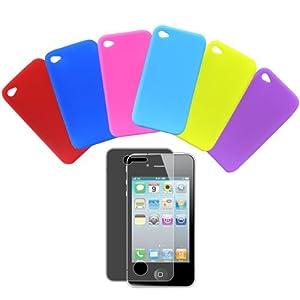 Daffodil IPC700 - iPhone Skins 4 / 4s - 6er Pack Silikon Hüllen - Display Schutzfolie beiliegend