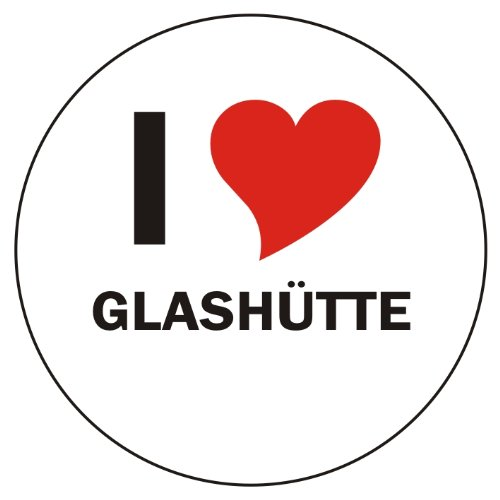 I Love GLASHÜTTE Laptopaufkleber Laptopskin 210x210 mm rund