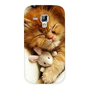 Special Sleeping Cat with Bunny Multicolor Back Case Cover for Galaxy S Duos