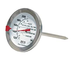 BIOS Premium Meat and Poultry Thermometer, White