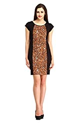 Cottinfab Women Cotton Brown Dress (Medium)