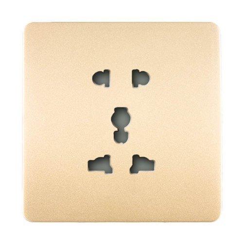 Trendi Switch presa elettrica artistica moderna con spinotti multipli,10amp,oro(2 pin rotondi piatti+3 pin rotondi piatti)