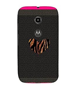 Chill Heart Pattern 3D Hard Polycarbonate Designer Back Case Cover for Motorola Moto E2 :: Motorola Moto E (2nd Gen)