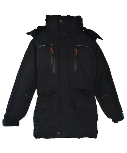 "J. Whistler ""Tornado"" Snorkel Parka (Sizes 8 - 20) - black, 10/12"