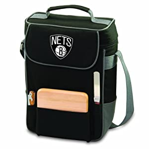 NBA Duet Insulated 2-Bottle Wine and Cheese Tote by Picnic Time
