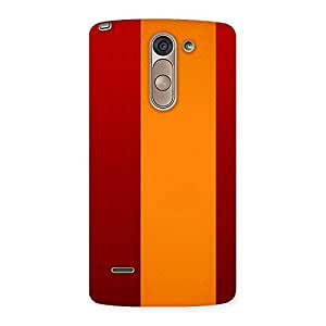 Ajay Enterprises Red Yellow Simple Design Back Case Cover for LG G3 Stylus