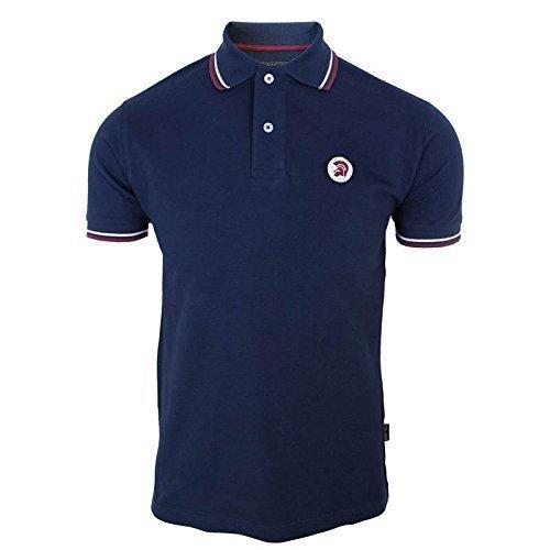 trojan-records-chemise-polo-homme-bleu-marine-pique-haut-bleu-marine-medium