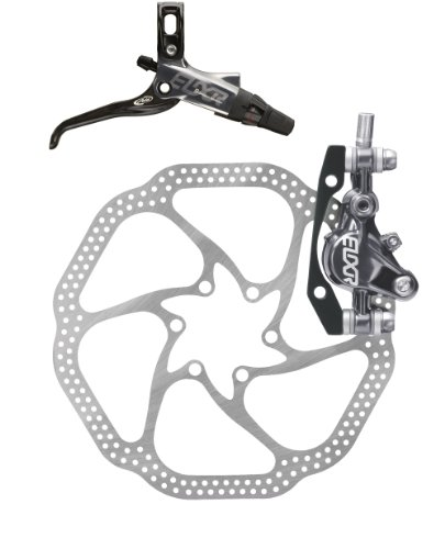 Avid Elixir 9 Rear Disc Brake with Carbon Right Lever (180mm HS1 Rotor, 1600mm Hose)- Grey Anodized (BR4765)