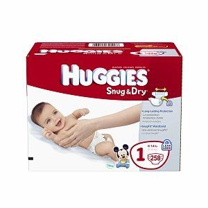 Huggies Snug & Dry Diapers, Size 1, 258 Count