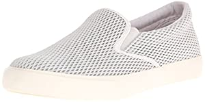 Lauren Ralph Lauren Women's Cedar Fashion Sneaker, Light Grey Diamond Grid Nubuck, 7.5 B US