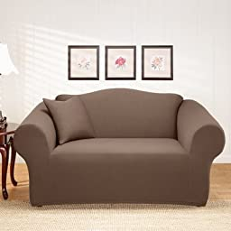Stretch Holden Loveseat Slipcover Color: Chocolate