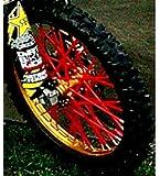 Bykas-Red-Spoke, Covers, Wraps, Skins, Coats-Dirt Bike 72 Spokes